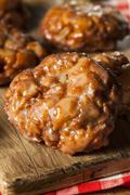 Homemade glazed apple fritters Stock Photos