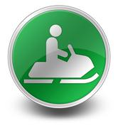 Icon, button, pictogram snowmobiles Piirros