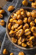 homemade salty corn nuts - stock photo