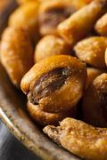 homemade salty corn nuts - stock photo