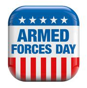 Armed forces day usa Stock Illustration