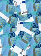 Stock Illustration of twenty euro background vertical