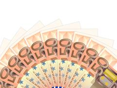 Fifty euro banknotes Stock Illustration