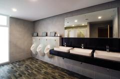 Luxury public restroom Stock Photos