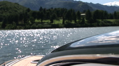 Chrome component on luxury boat  Stock Footage