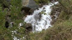 Mountain waterfall 02 rauris Stock Footage