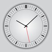 Vector abstract simple round clock Stock Illustration
