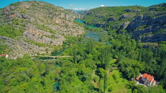River Krka canyon Stock Footage