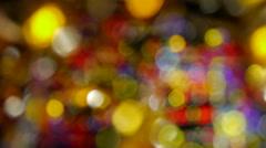 Multicoloured bright light spots Stock Footage