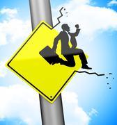 The breakthrough Stock Illustration