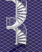 the white stair - stock illustration