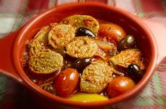 Spicy Italian Sausage Casserole - stock photo
