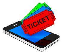 the tickets - stock illustration