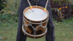 Musician playing on the drum Stock Footage