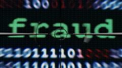 Web fraud text on target Stock Footage