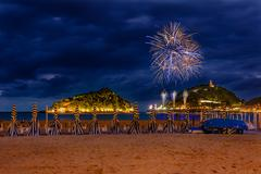 San sebastian fireworks Stock Photos