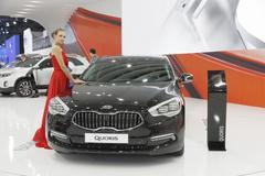 The European premiere of KIA  QUORIS Stock Photos