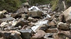 Mountain waterfall slowmo 04 rauris Stock Footage