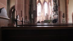 Catholic Cathedral of Baden-Baden. Germany Stock Footage