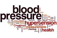 Stock Illustration of blood pressure word cloud