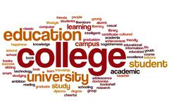 Stock Illustration of college word cloud