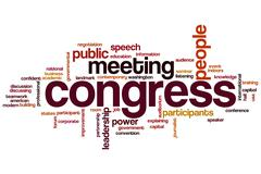Congress word cloud Stock Illustration