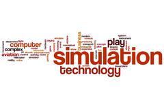 Simulation word cloud Stock Illustration