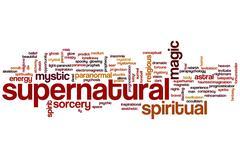 Supernatural word cloud Stock Illustration