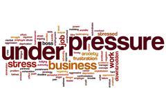 under pressure word cloud - stock illustration