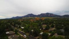 Stock Video Footage of Boulder Colorado Neighborhood Aerial