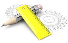 engineering concept - stock illustration