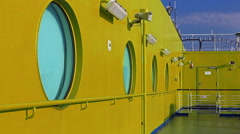 Round windows on the ship Stock Footage