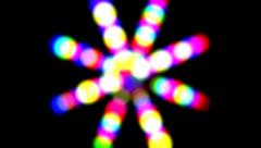 Spinning Electronic Disco Flower Effect Stock Footage