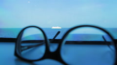 Ship and glasses Stock Footage