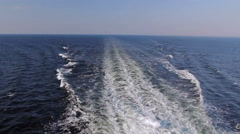 Waves from ship Stock Footage