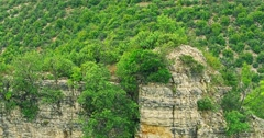 4K Bogocin fortress, medieval remains on a cliff Stock Footage