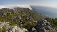 On Top of Table Mountain Time Lapse Stock Footage