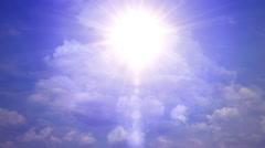 Heavenly Sun Light Sky Clouds Stock Footage