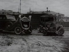 Animated Cartoon Of 1930's Cars Laughing Hysterically .mp4 - stock footage