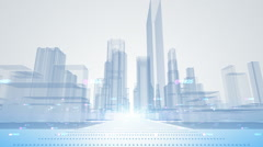 Abstract city animation Stock Footage