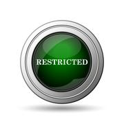 restricted icon - stock illustration