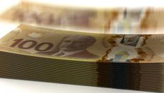 Money Fall Canadian Dollar Stock Footage