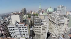 Aerial view from Downtown Sao Paulo, Brazil - stock footage