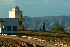 Observatory in the desert of tatacoa, colombia Stock Photos