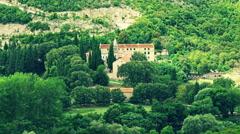 Krka Monastery Stock Footage