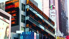Financial news in New York Stock Footage