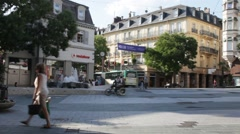 Leopold Square. Baden-Baden. Germany Stock Footage