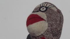Sock Monkey alive - stock footage