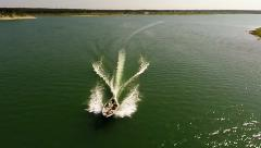 Aerial boating view pull back - stock footage