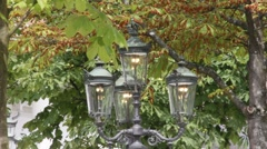 Old gas latern at the casino and Kurhaus. Baden-Baden. Germany Stock Footage